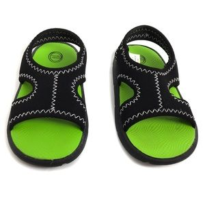 Wonder Nation Boys' Prewalk Black Green Sandals